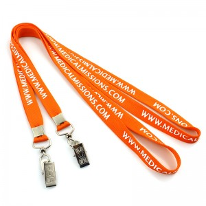Professional China Printed Polyester Customized Lanyard  Wholesale personalized polyester tube lanyard customized
