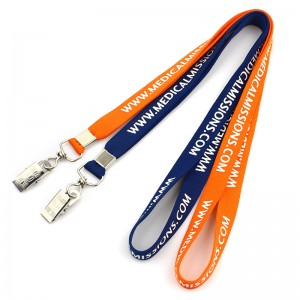 Professional China Printed Polyester Customized Lanyard  Custom silk screen printed tube lanyard neck strap with logo