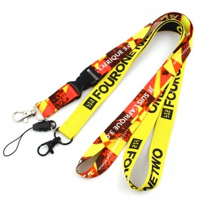 Professional China Printed Polyester Customized Lanyard Promotional Logo Printing Polyester Sublimation Lanyards Custom