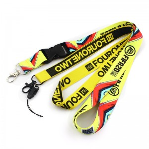 China factory Printed Sublimation Customized Lanyard Custom wholesale plain nylon lanyard