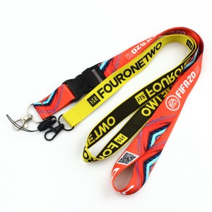 Promotional Logo Printing Polyester Sublimation Lanyards Custom