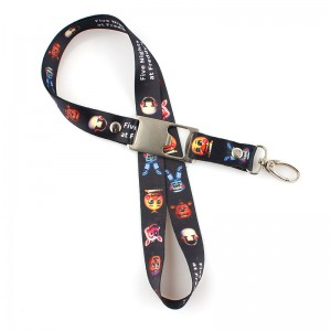 High quality polyester printed beer bottle opener lanyard custom logo