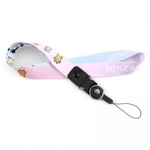 Cheap polyester customized various eco-friendly lanyard for cellphone holder