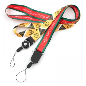 Professional China Printed Polyester Customized Lanyard Fashionable Universal Neck Strap Lanyard for Mobile Phones