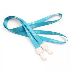 Custom fashion premium quality nylon cheap lanyard