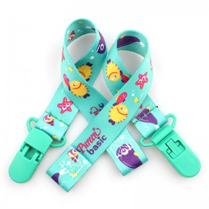 Wholesale Custom Logo Baby Pacifier Clip With Double-sided Paste