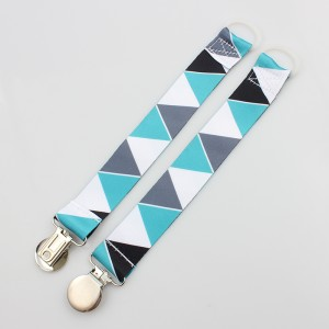 Custom colorful safety baby teething pacifier metal clip