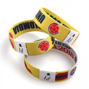 Custom Polyester Soft RFID Elastic Wrist Band Fabric Wristband For Events