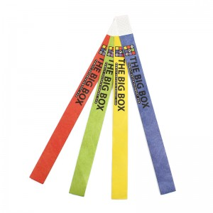 Promotional items printed barcode event tyvek paper wristbands