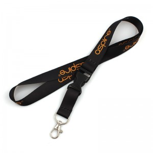 Dye sublimation printing logo custom polyester neck lanyards with disconnect buckle