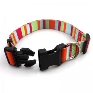 custom camouflage rpet printed personalized pet collars breakaway buckle