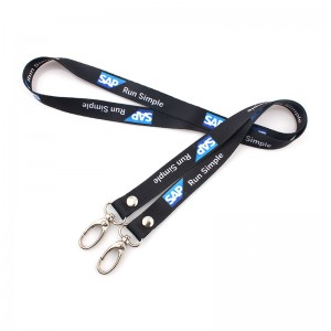 Customized Polyester Two Hooks Neck Lanyard for Sale