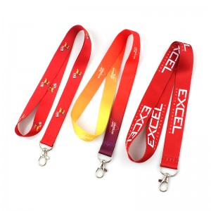 Professional China Printed Polyester Customized Lanyard Custom Sublimation Printed Lanyard with Logo Design
