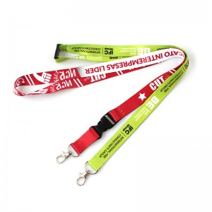 Professional China Printed Polyester Customized Lanyard  Factory Wholesale Neck Strap Custom Sublimation Lanyards Printed with Logo Sample Free