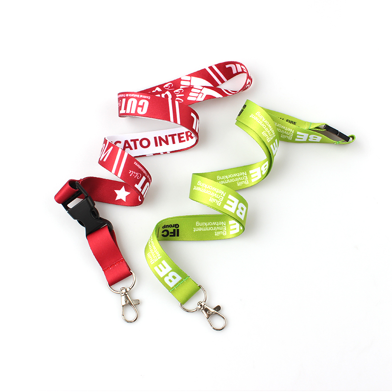 Professional China Printed Polyester Customized Lanyard  Factory Wholesale Neck Strap Custom Sublimation Lanyards Printed with Logo Sample Free Featured Image