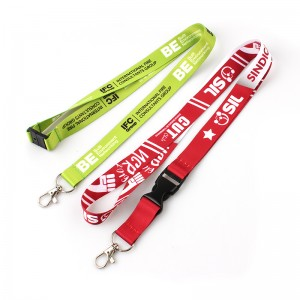 Professional China Printed Polyester Customized Lanyard Wholesale Neck Strap Custom Sublimation Polyester Lanyards with Logo