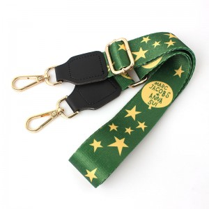 Factory wholesale replacement polyester adjustable shoulder strap with metal buckle