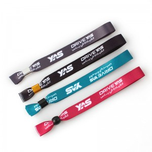Custom logo personalized polyester one-off festival sport wristband for activity