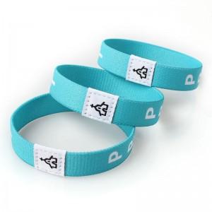 Wholesale custom logo fashion personalized elastic wristband for activity