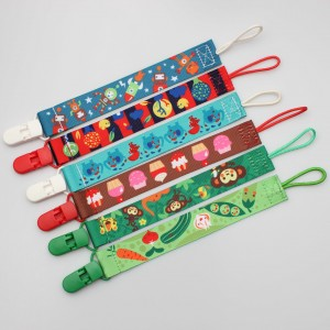 New Arrival China Lanyard Card Holder - Promotional supplier baby soft feeding pacifier clips holder – February Webbing