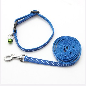 Factory custom solid male pet dog collars and leash set manufacturer