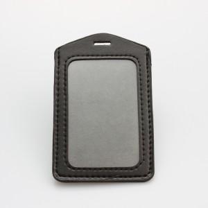 High quality Id card PU badge holder supplier