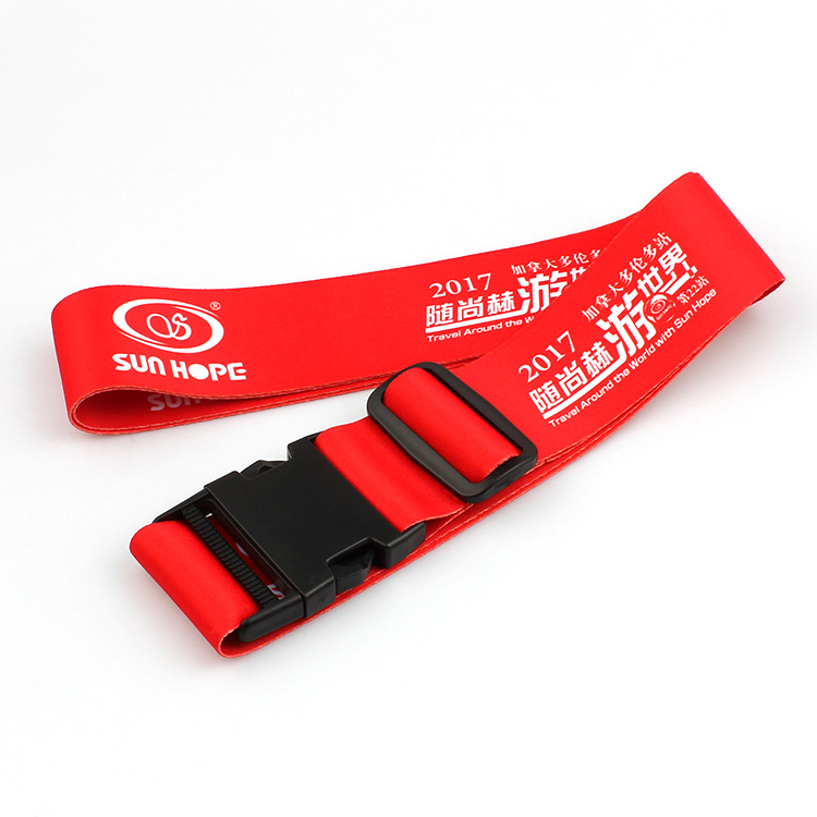 OEM/ODM Manufacturer Round Cord Lanyard - Wholesale Promotional Custom Made Polyester Luggage Strap with Detach Buckle – February Webbing