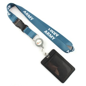 Guangzhou manufacturer fashionable 3D effect lanyard for id card holder