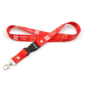 Manufacturer cheap custom sublimation printing polyester lanyard with breakaway buckle
