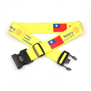 Password suitcase secure lock wholesale custom luggage strap with lock