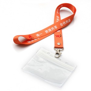 Fashion pouch holder neck lanyard with card holder for event