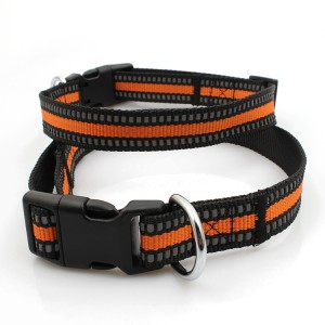 Comfortable soft durable training reflective dog collar with buckle