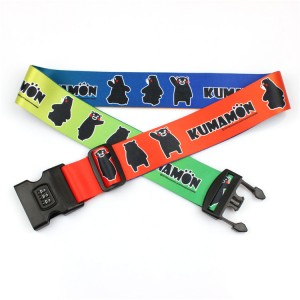 Custom personalized security cross luggage belts with adjustable lock