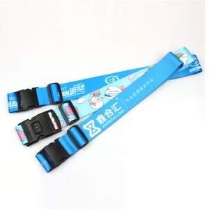 High quality adjustable custom Luggage strap suitcase polyester Belt