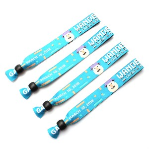 Event entrance ticket security snap closure woven wristbands