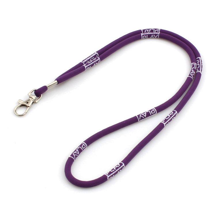 Best Price for Safety Lanyard - Woven round lanyard with custom logo polyester elastic cord lanyard – February Webbing
