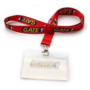 Eco friendly rpet retractable lanyard card holder recycle
