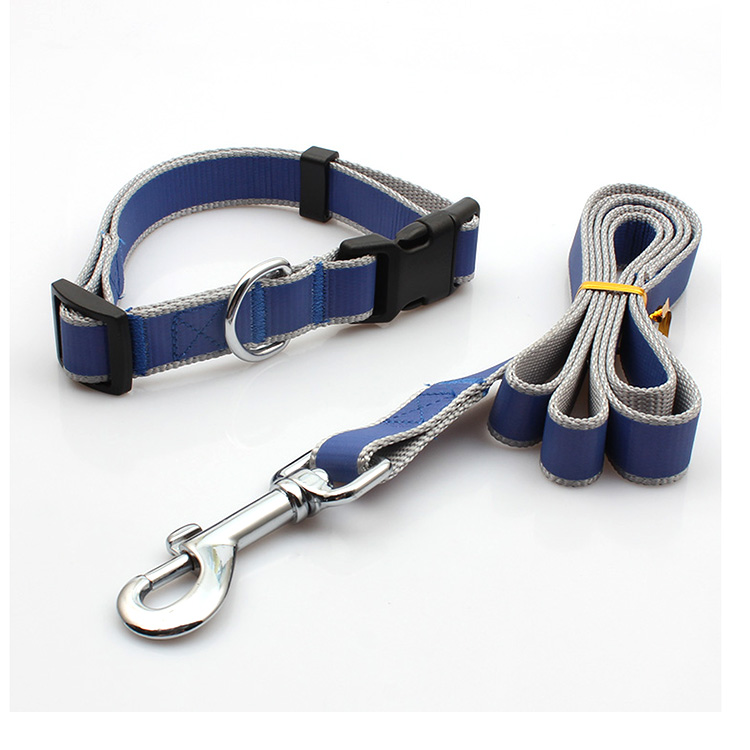 Discount Price Double Clip Lanyard - Custom made organic free designer pet leash dog collar set reflective – February Webbing