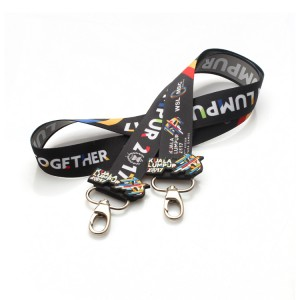 Factory price fashion heat transfer printing lanyard with custom logo