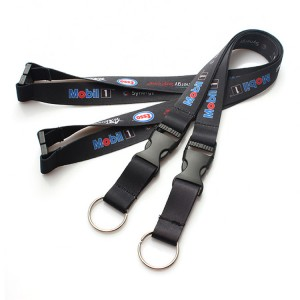 Promotional Custom Logo Neck Heated Transfer Printing Polyester Lanyard with plastic hook