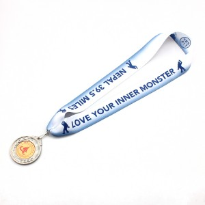 Factory high quality custom polyester medal lanyard