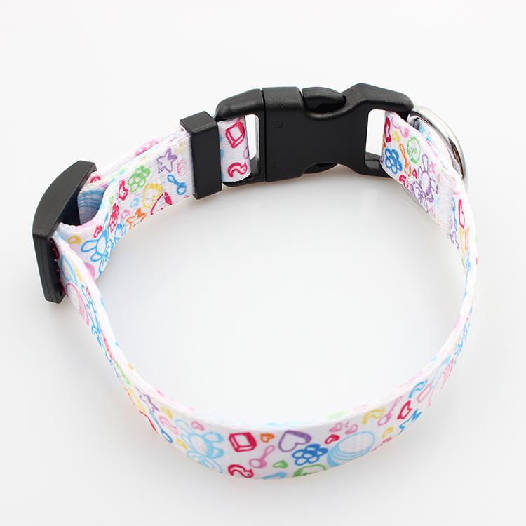 High definition Lanyards Printed - Custom fashion design dog collar with safety adjustable buckle – February Webbing
