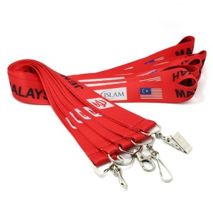 Promotion cheap custom red lanyards no minimum order