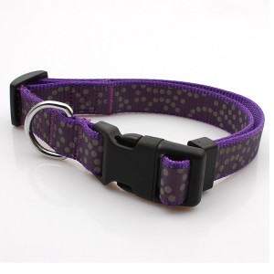 Quick release comfortable reflective soft pet strong dog collar