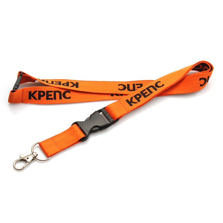 High-quality-neck-custom-polyester-woven-lanyards