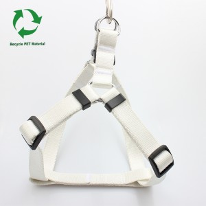 OEM ODM eco friendly RPET material recyclable blank dog harness pet