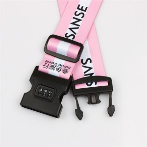 High Strength Polyester Strap Suitcase Luggage Packing Belts with number lock