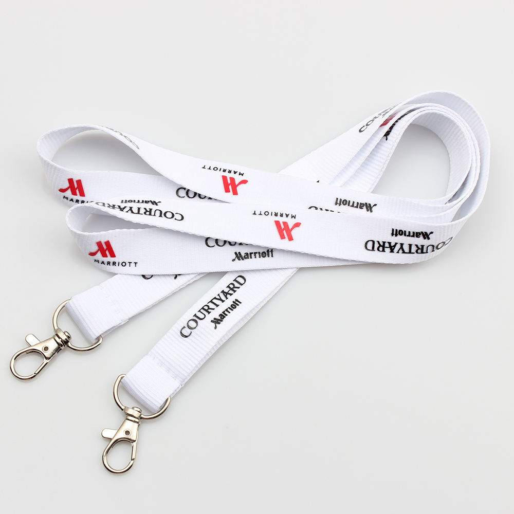 Personalized Printed double hook lanyard with logo Featured Image