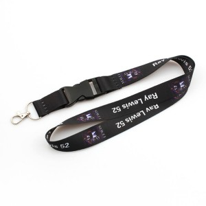 Factory custom cheap sublimation printing polyester lanyard with breakaway buckle