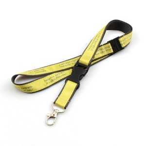 OEM Factory for Double Layer Lanyard - Fast delivery top supplier woven keycord lanyard with key ring – February Webbing